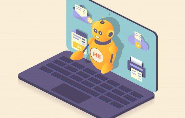 chatbot robot assistente