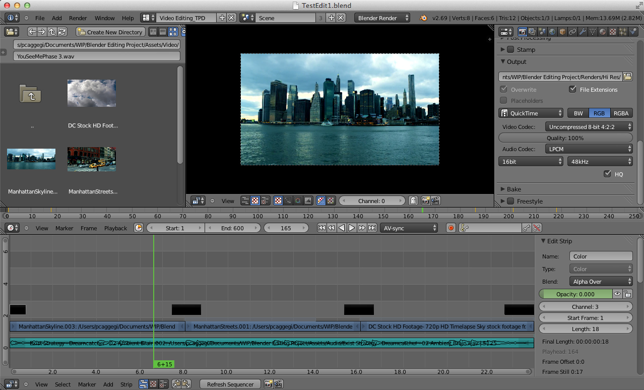 Editing video profesionale con Blender