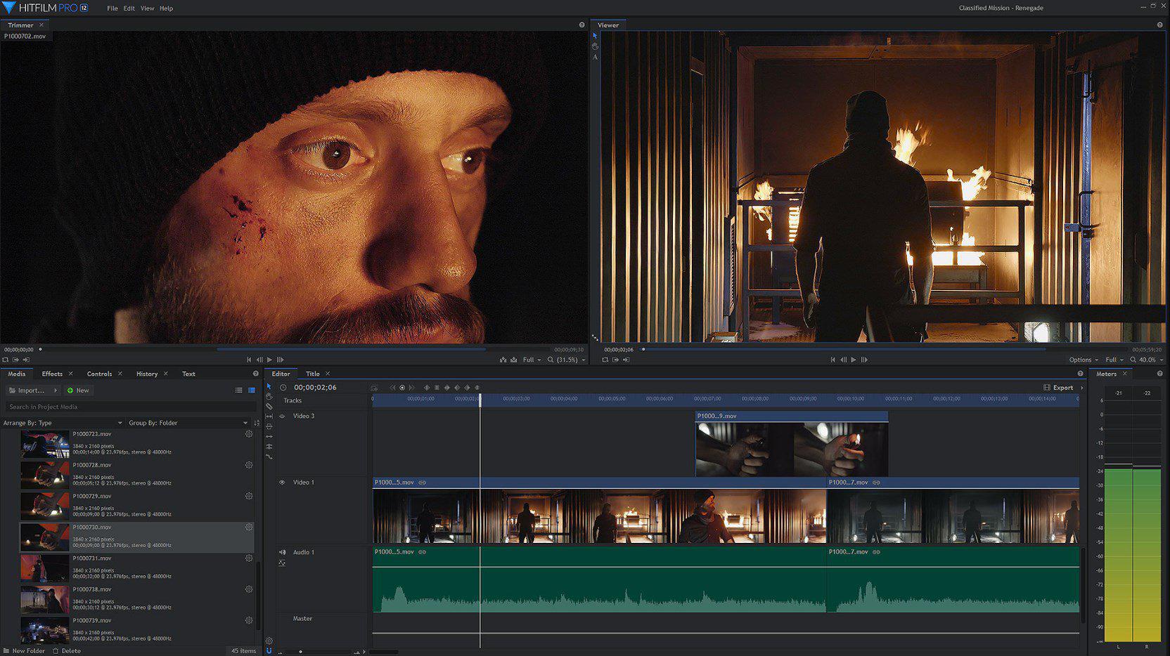 Montaggio video professionale con HitFilm
