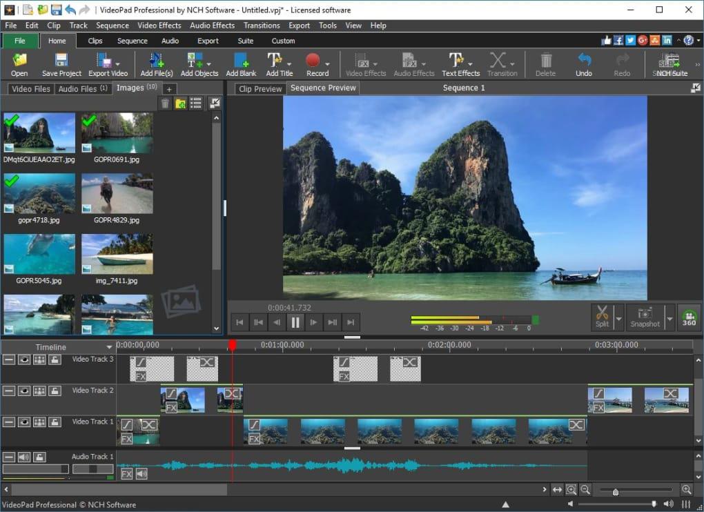 VideoPad Video Editor per un montaggio video professionale