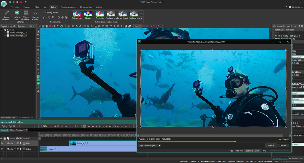 Editing video professionale: VSDC Free Video Editor
