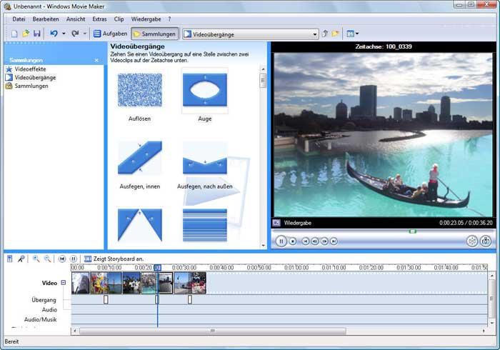 Programma per montaggio video Windows Movie Maker